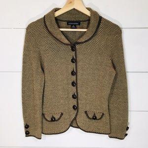 BANANA REPUBLIC Herringbone Wool Jacket Elbow Pads